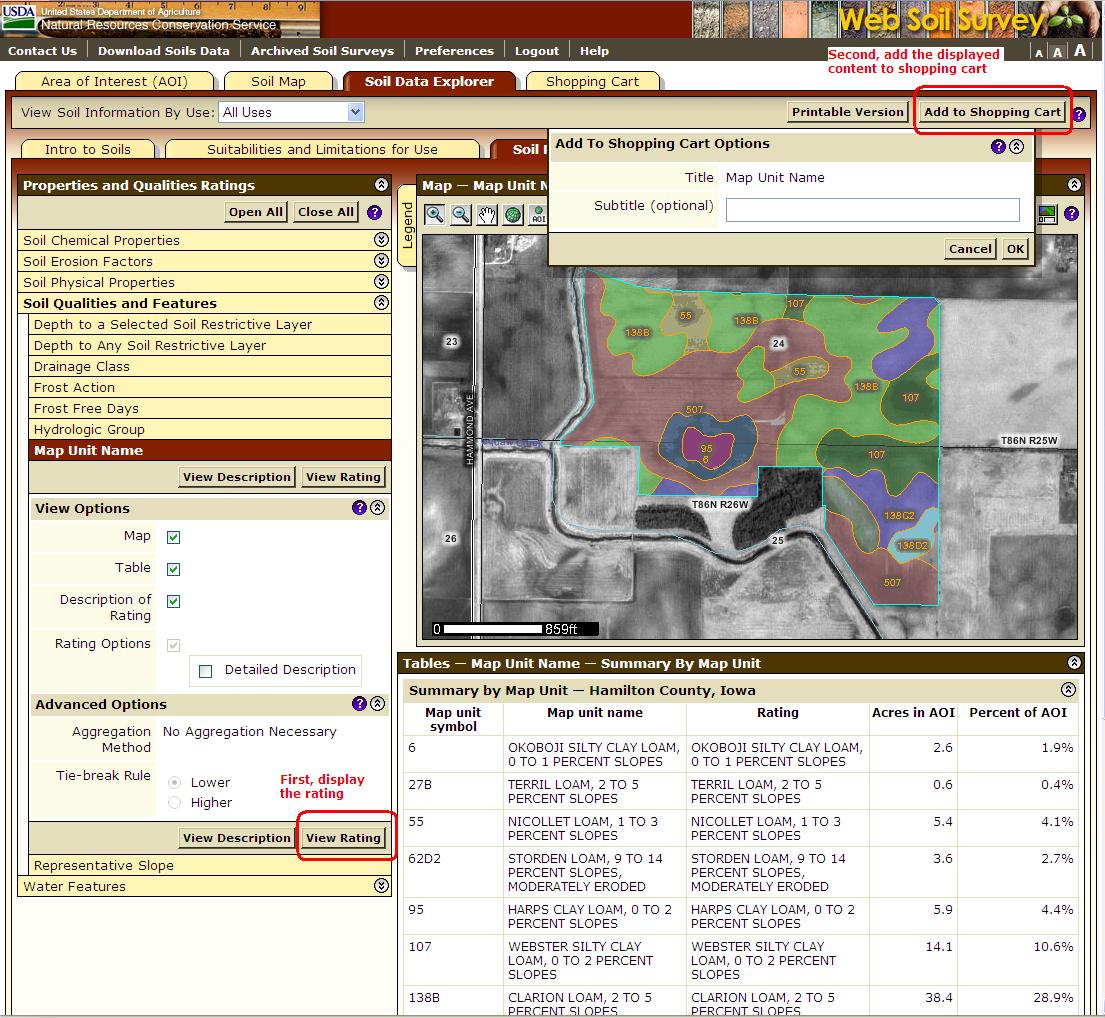 Web soil survey 2 0 new features for Soil web survey
