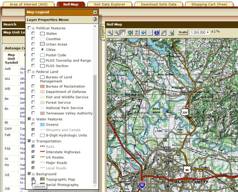 Web Soil Survey Tips And Shortcuts - Topo us mapping