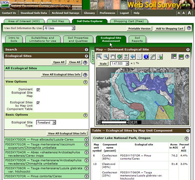 Web soil survey 2 1 new features for Soil web survey